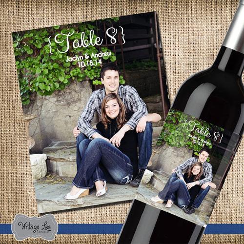 Приглашение на свадьбу в виде этикетки на бутылку