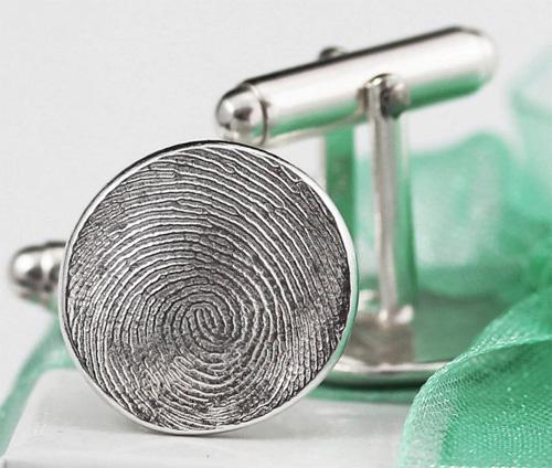 Мужские запонки из отпечатка пальца