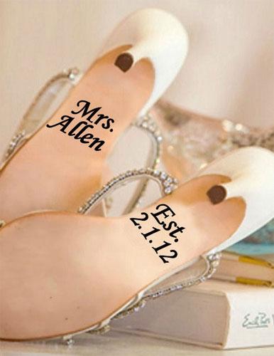 Наклейки на свадебные туфли