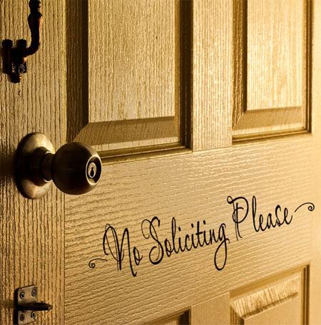 Наклейка на дверь