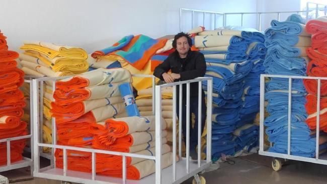 Промышленные масштабы производства полотенца