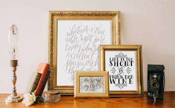 Каллиграфические шрифты