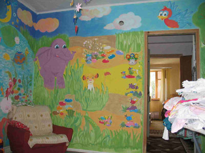 Разукраска детской комнаты