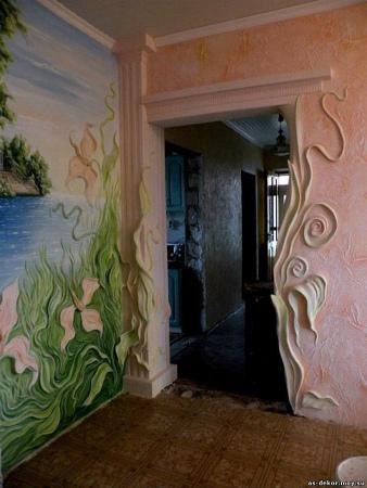 Декоративные стены в квартирах
