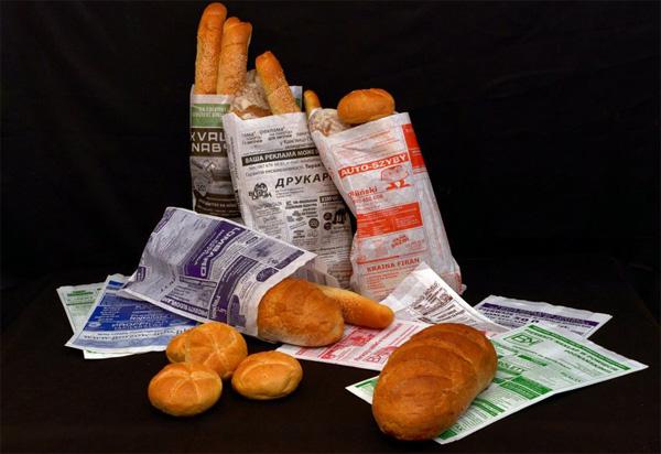Реклама на пакетах для хлеба