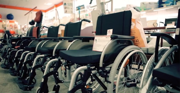 Распространение изделий для инвалидов