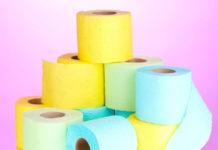 Женская и мужская туалетная бумага