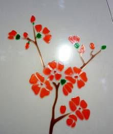 Изображение цветов в технологии Vitraglass