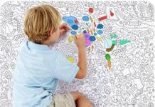 Обои раскраски для детей