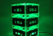 Светильники из старых кассет