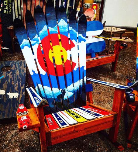 Мебель из лыж