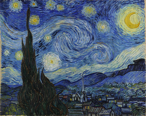 "Картина Ван Гога ""Звездная ночь"""