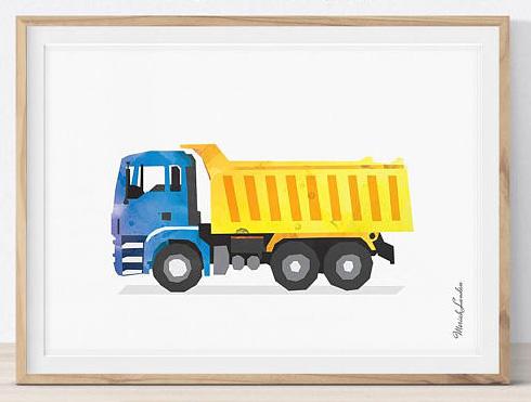 Принт грузовика