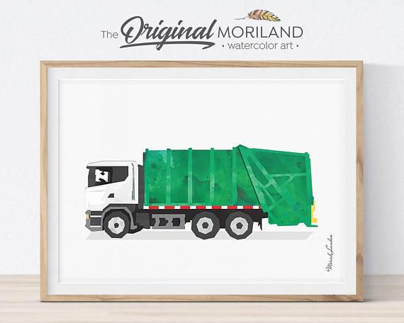 Принт с грузовиком