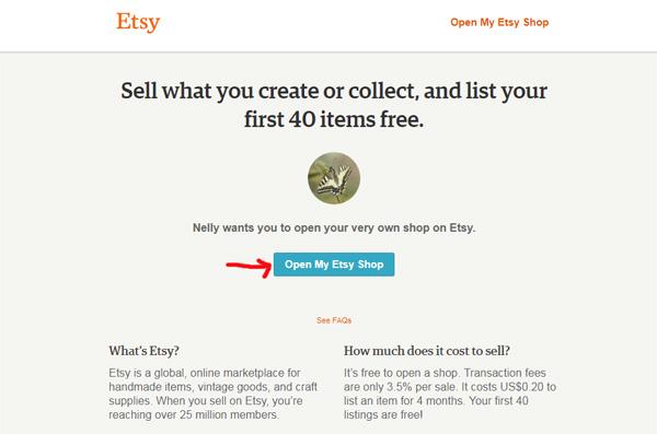 Как получить 40 бесплатных листингов на Etsy