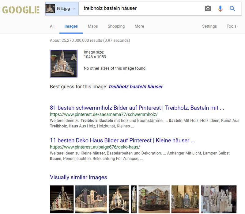Новые результаты поиска по картинке от Google