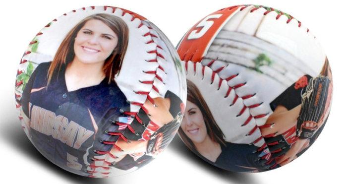 Спортивный мяч с изображениями спортсменов