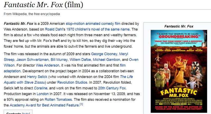 Фильм Fantastic mr Fox