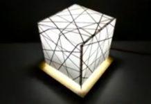 Как сделать ночник из бумаги и картона