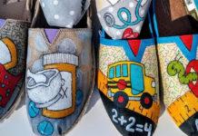 Раскрашенная обувь