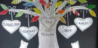 Алюминиевое дерево на 10 лет свадьбы