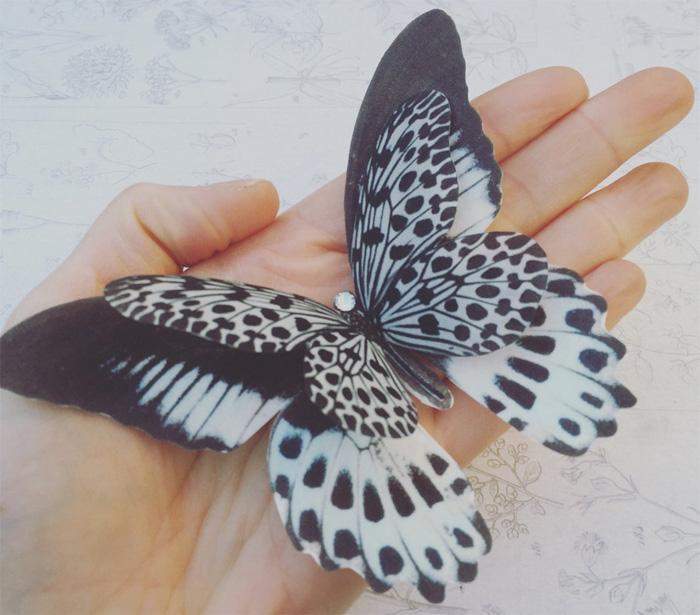 Бабочка-заколка за 14 долларов