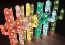 Светящиеся буквы и фигурки из стали