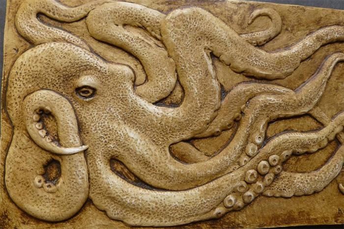Объемная картина осьминога