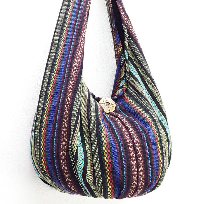 Тканевая сумка с пуговицей