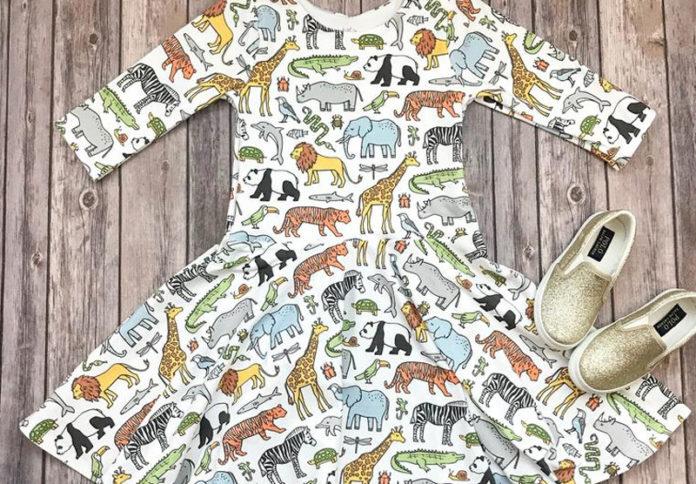 Детские платья с оригинальными принтами