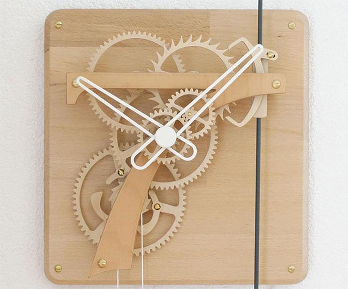 Деревянные механические часы