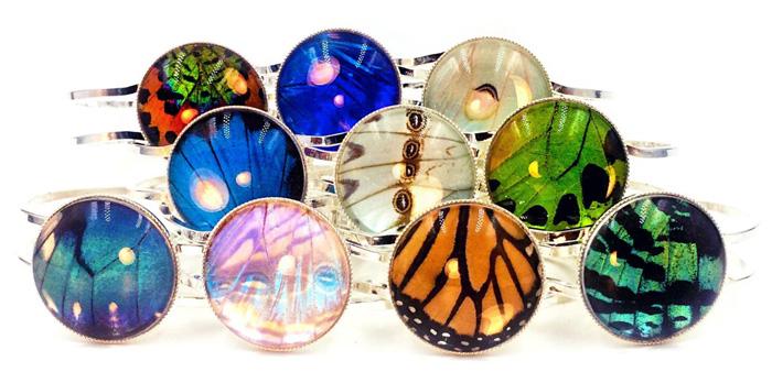 Браслеты из крыльев бабочки