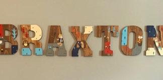 Деревянные буквы с картинками