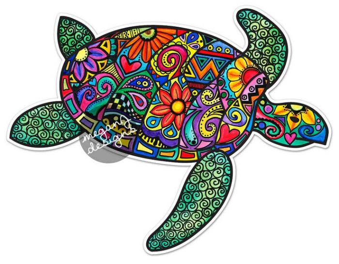 Наклейка Морская черепаха
