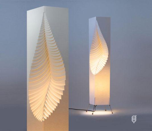 Лампа из бумаги