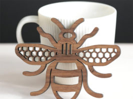 Художественные деревянные подставки для напитков