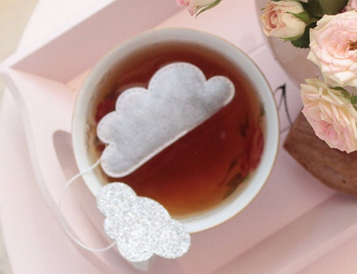 Чайный пакетик в виде облака