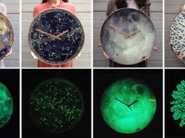 Часы-планеты с витражом