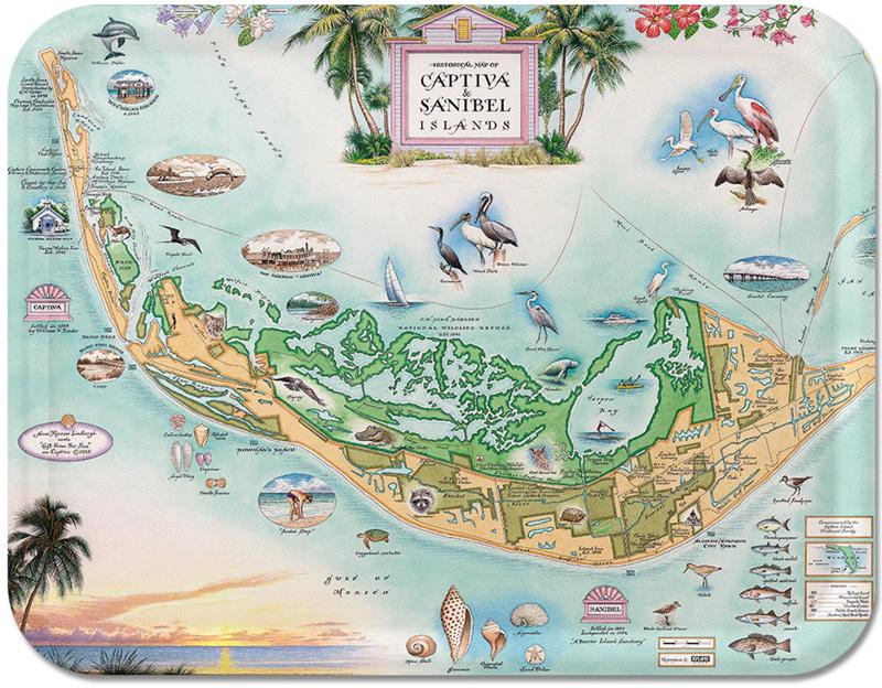 Старинная карта острова