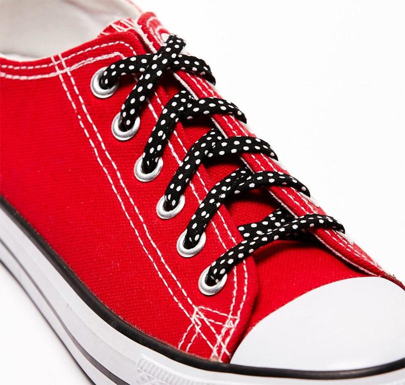 Шнурки в горошек