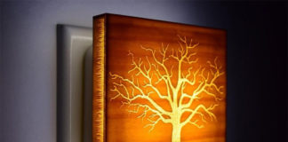 Ночники из дерева