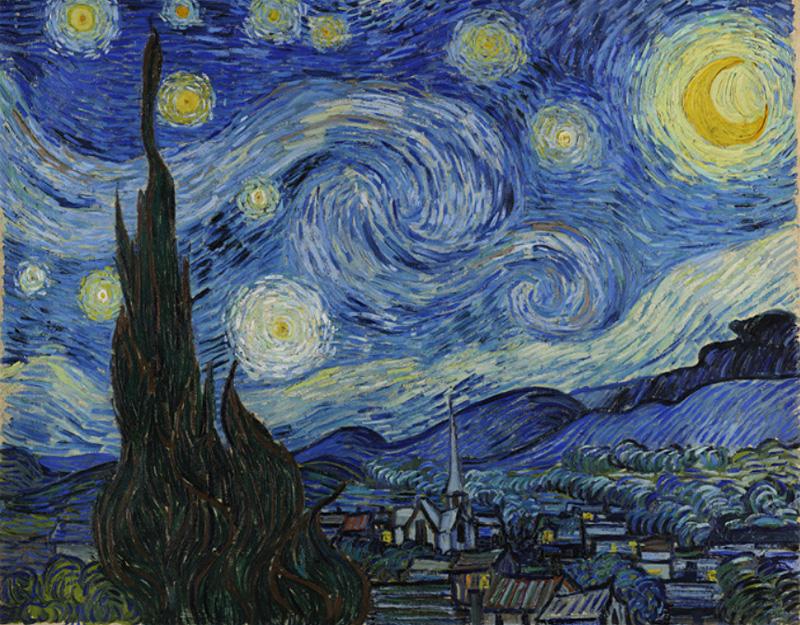 Картина Ван Гога Звездная ночь