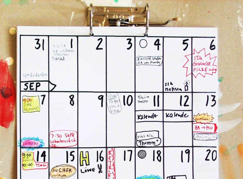 Календарь как планировщик