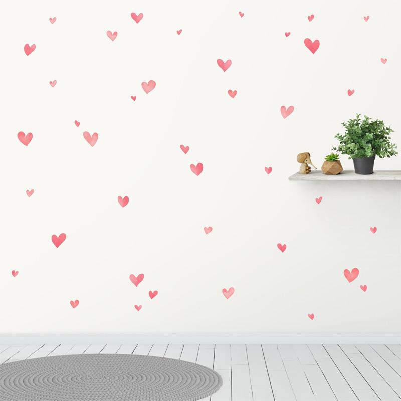 Наклейки для стены Сердечки
