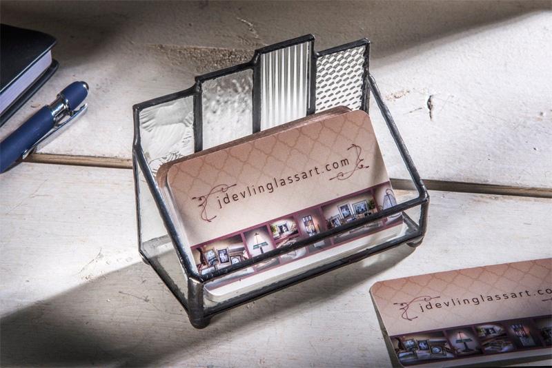 Подставка для визиток из стекла
