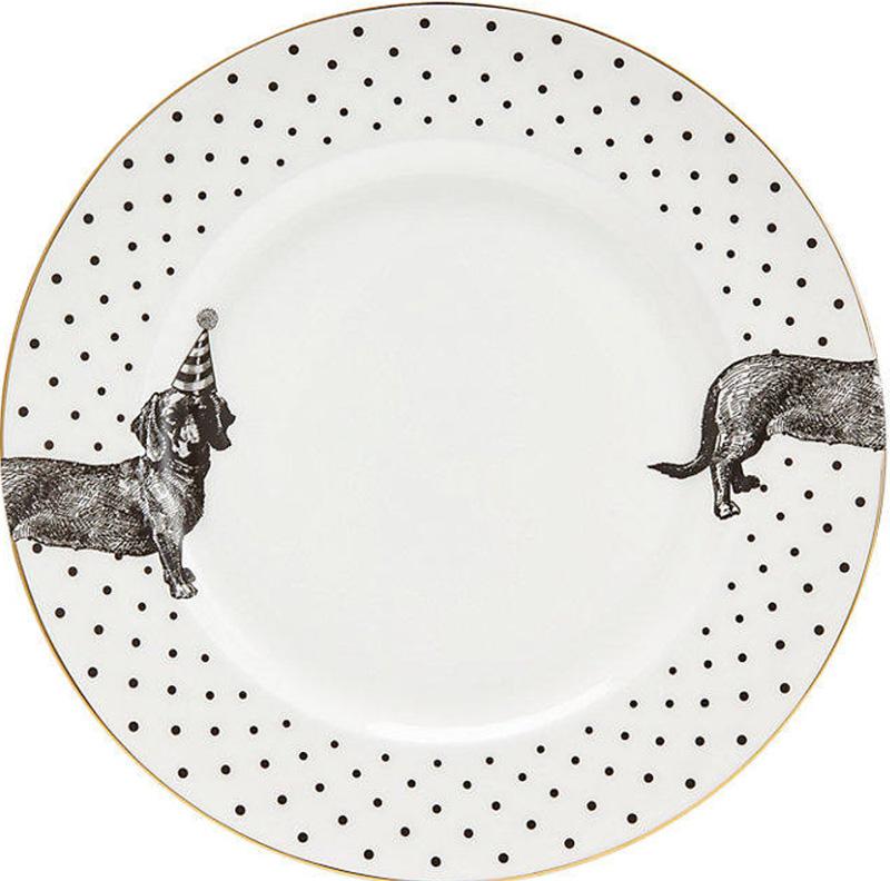Тарелка с собакой