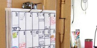 Современный настенный календарь-планировщик