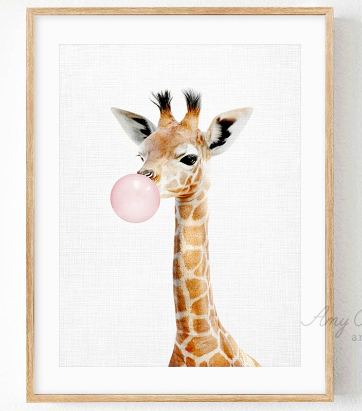 Жираф со жвачкой