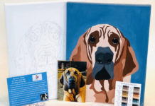 Картина любимой собаки по номерам