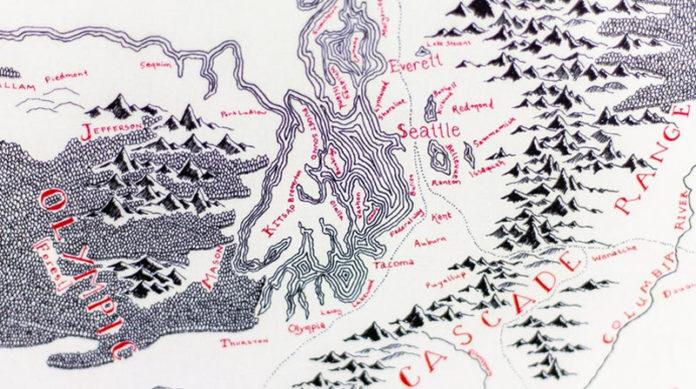 Карты в стиле Властелина колец писателя Толкина